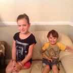 Nastya and Zakhar sitting still, for once !